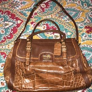 Coach Madison Spectator Embossed Exotic Carryall